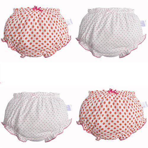 Pantalones de Entrenamiento para Bebé 4 Paquetes, Morbuy Niños Niñas Bragas de Aprendizaje Reutilizable para niños Pequeños de Algodón pañales Ropa Interior (B,110# /3-4 años)