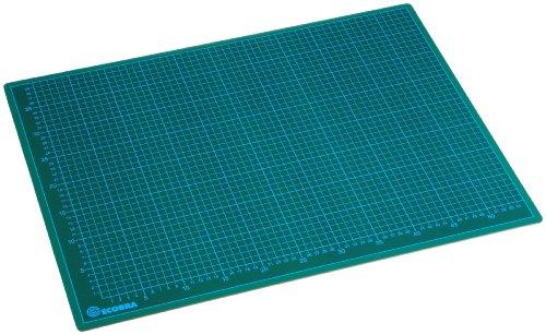 Ecobra 706045 - Base da taglio, 60 x 45 cm, colore verde/nero