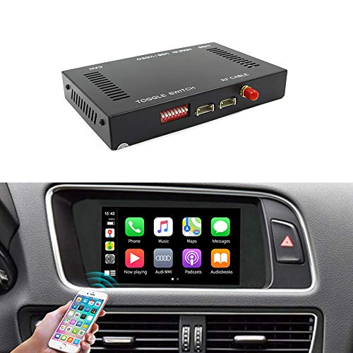 Carlinkit Wireless Carplay Module Receiver Box for a-udiA4/A5/S4/S5/RS4/RS5/Q5 MMI (2010-2017) carplay retrofit Accessories,Support Wireless mirroring,Reverse Track,Android auto