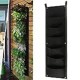 *MeteorFlying *1pcs Jardí Vertical penjoll de paret jardinera paret muntatge en balcó planta créixer bossa 7 butxaques bossa jardinera