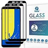 Pevita Protector de Pantalla Samsung Galaxy J8 (2018). [2 Packs]. Dureza 9H, Sin Burbujas, Fácil Instalación. Protector de Pantalla de Cristal Templado Premium para Samsung Galaxy J8 (2018)