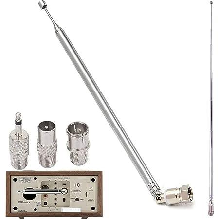 120cm Teleskop Antenne Ersatz F Stecker Dab Ukw Radio Elektronik