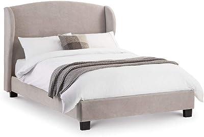 Julian Bowen Astrid Grey Fabric Bed 150cm 5FT King Size Frame Scandinavian Retro