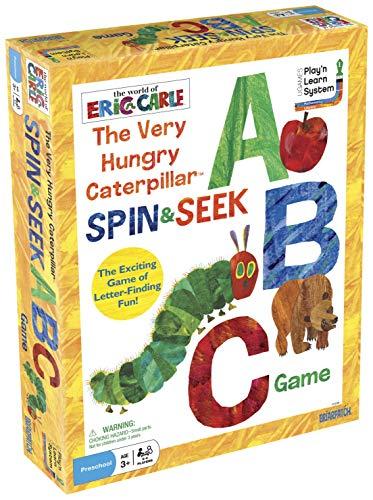 University Games rupsje nooitgenoeg spin en verzamelen ABC-spel, meerkleurig