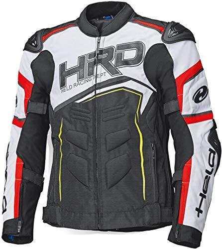 Held Safer SRX Giacca tessile moto Nero/Rosso/Bianco
