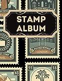 Stamp Album: Stamp album for collectors, kids and adults, My Stamp Collection, Stamp Collection Catalog Journal, Philately Stamp Collectors Log Book, large Vintage stamp album stock-book.
