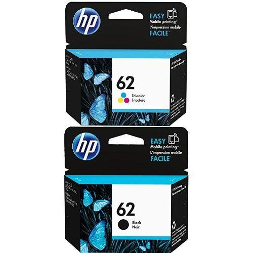 HP 62 Tri-color Original Ink Cartridge (C2P06AN) and HP 62 Black Original Ink Cartridge (C2P04AN) Bundle