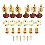 Dilwe 3L3R Chevilles Mécaniques, têtes de Machine Tuners de Verrouillage pour Guitare électrique Acoustique (Or)