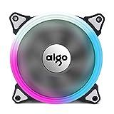 Aigo Aurora RGB LED 120mm Case Fan High Performance High Airflow Adjustable Colorful PC CPU Computer Case Cooling Cooler( Single Fan)