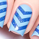 Whats Up Nails - Chevron Vinyl Tape Stencils for Nail Art Design (2 Sheets, 180 Strips Total)