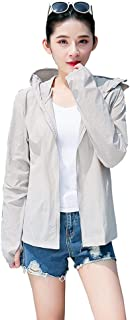 LayTmore Sun Protection Top,Women's Sun Protection Jacket UV Protection Summer Outdoor Sun Protection Clothing (Gray, L)