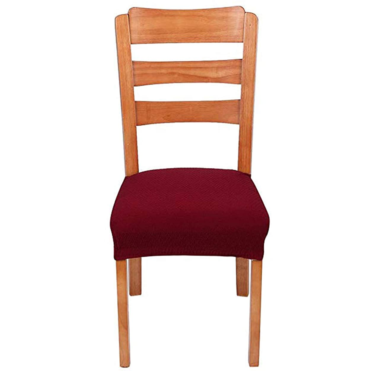 告白情緒的使役LECKY座面カバー,4枚 椅子カバー 座面 チェアカバー 伸縮素材 ストレッチ ふわふわ 家庭 ホテル用 ウェディング 結婚式 ダイニングチェア カバー 可能 洗える