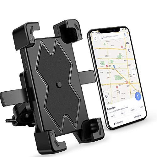 A-VIDET Handyhalterung Fahrrad, Handyhalter Motorrad - 360 Grad Drehung Outdoor Fahrrad Halter für iPhone 11 Pro Max, Xs Max, XR, X, 8, 7, 6S, Samsung S10,S9, S8, andere Smartphone (4,5-6,5 Zoll)