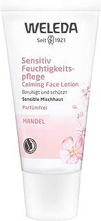 WELEDA Mandel Sensitiv Feuchtigkeitspflege, Naturkosmetik sanfte und unparfümierte Gesichtscreme für sensible Mischhaut im Gesicht und am Hals für einen gesunden Teint 1 x 30 ml