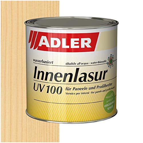ADLER Innenlasur UV 100-750ml - Wohngesunde Holzlasur farblos für innen mit speziellem Vergilbungsschutz, atmungsaktive Wohnraumlasur auf Wasserbasis
