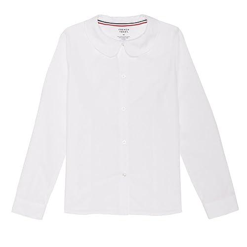 81b257c9521 French Toast Girls  Long Sleeve Peter Pan Collar Blouse