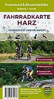 Fahrradkarte Harz 1 : 50 000: Wasser- und reissfeste Tourenrad- und Mountainbike-Karte mit 36 Touren