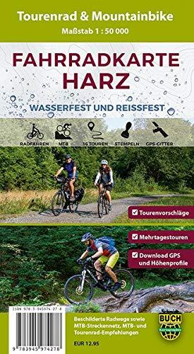 Fahrradkarte Harz: Wasser- und reißfeste Tourenrad- und Mountainbike-Karte mit 36 Touren: Wasser- und reifeste Tourenrad- und Mountainbike-Karte mit 36 Touren