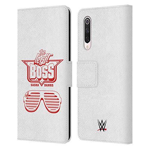 Officiële WWE Mono Bling Boss Sasha Banken Lederen Book Portemonnee Cover Compatibel voor Xiaomi Mi 9 Pro / 5G