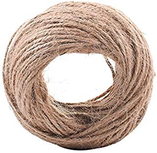Home 30M Natural Burlap Hessian Jute Twine Cord Hemp Rope String 2mm Rustic Wrap Gift Packing String Wedding Decoration
