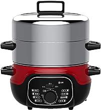 Acier inoxydable 2-couche électrique à vapeur, 1360W, 2 couches 14 litres Capacité, Vapeur légumes for la minuterie de cui...