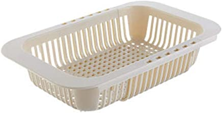 Blanco aoory Organizador de Fregadero Cocina Ba/ño Cesto Porta Esponja Jabonera