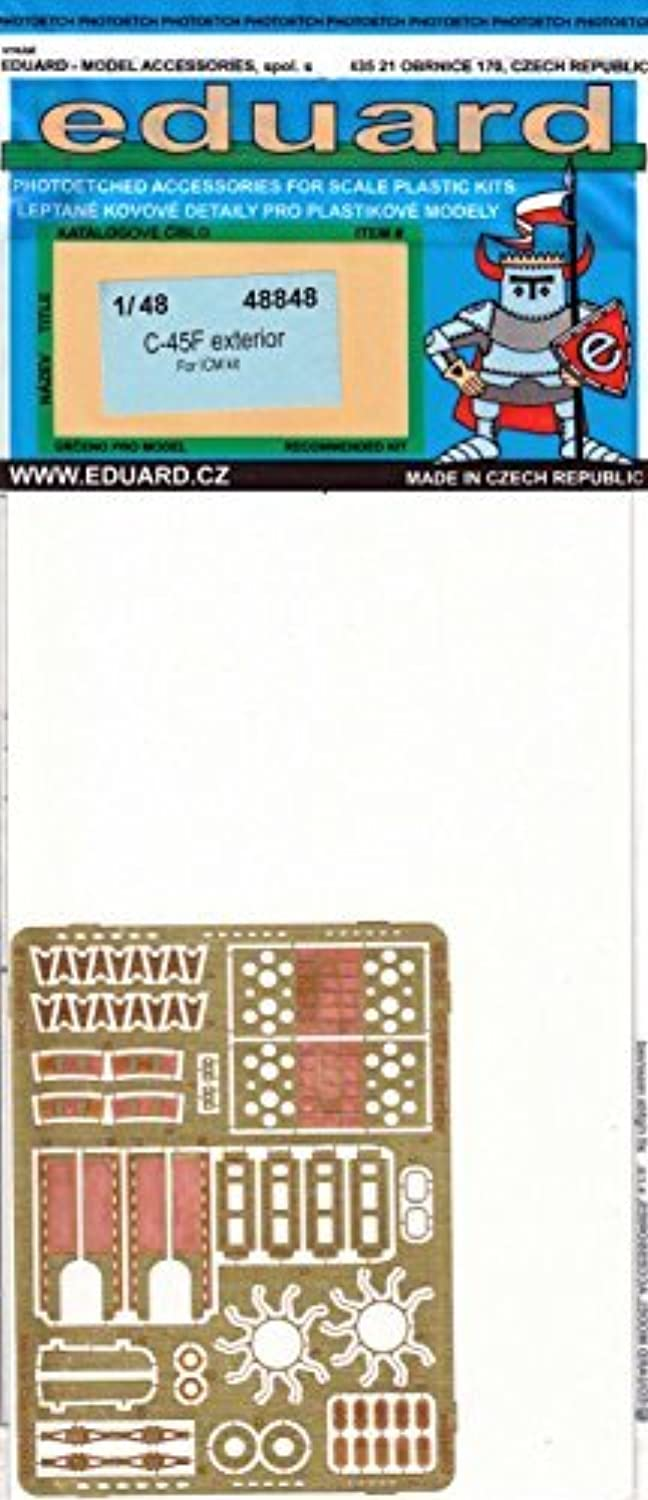 EDU48848 1 48 Eduard PE - C-45F Expeditor Exterior Detail Set (for use with the ICM kit) MODEL KIT ACCESSORY by Eduard