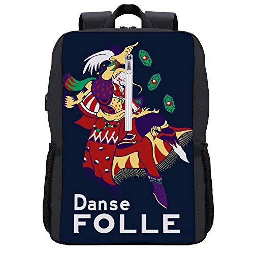 Danse Folle Kefka Palazzo Final Fantasy VI - Mochila para portátil con puerto de carga USB