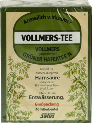 VOLLMERS präparierter grüner Hafertee N Filterbtl. 40 St