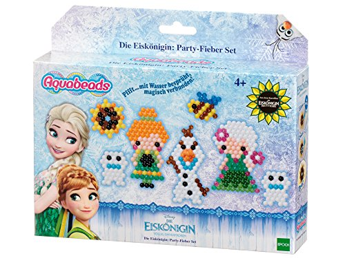 EPOCH Traumwiesen GmbH Aquabeads 30069 Die Eiskönigin: Party-Fieber Set The icequeen Bastelset