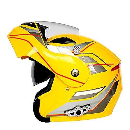 KOKOF Cascos de Motocicleta, Cascos de Bicicletas, Casco de Ciclismo de una Pieza Casco Transpirable Casco de Amortiguador Bicicleta de Carretera de Bicicleta de montaña c Yellow-B-XXL