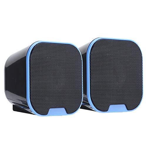 Goshyda Altavoz Digital, Mini Altavoz Digital Hi-Fi portátil Altavoz Digital ABS, 360 ° hasta el Suelo, Compatible con Todos los Dispositivos de Interfaz de Audio de 3,5 mm
