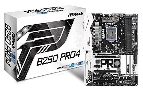 ASRock B250 Pro4 LGA 1151 Intel B250 HDMI SATA 6Gb/s USB 3.0 ATX...