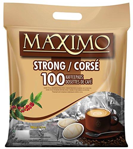 MAXIMO 100 Kaffeepads Strong
