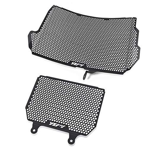 WSGGFA Para YZF-R1 YZF-R1M YZF R1 R1M 2015-2018 2019 2020 enfriador de aceite protector protector de radiador motocicleta parrilla cubierta (color: negro)