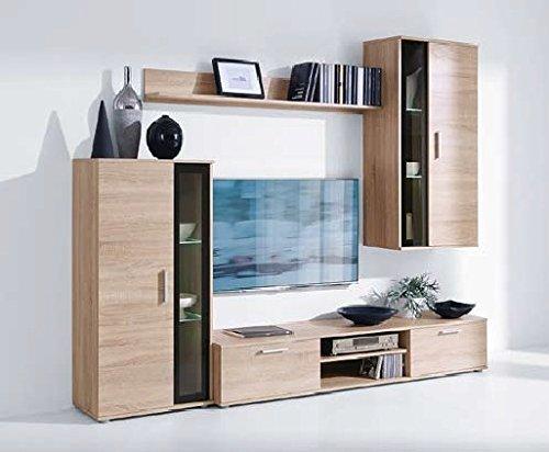 Producto nuevo juego de sala de estar Swing con mueble para televisor, huecos de muebles de pared LED de: Amazon.es: Hogar