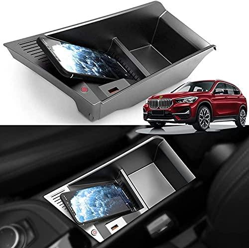 Cargador inalámbrico, 15W Qi rápidamente de Carga del Cargador del teléfono Pad con Coche QC3.0 USB imputación General de los BMW X1 2018 2019 2020 2017 2021 Center Console Panel de Accesorios