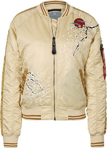 Alpha Industries MA-1 Souvenir Damen Jacke Creme M