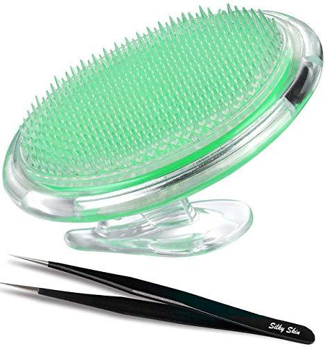 Silky Skin Peeling Body Bürste für die Behandlung und Verhütung Rasierer Beulen und eingewachsenen Haare für Männer und Frauen, flexible Borstenbürste zu beseitigen Rasur Irritation für Gesicht