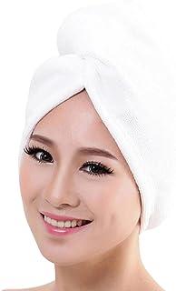 99c9c52a03 NEWONESUN Microfiber Bath Towel Hair Dry Hat Cap Quick Drying Lady Bath  Tool (White)