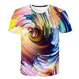Camiseta Hombre 3D Camisetas de Manga Corta Divertidas Camiseta de Moda para Hombre, impresión en túnel Espacial 6XL