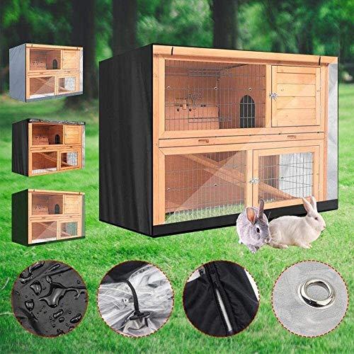 Mirui Muebles de terraza Cubierta del Conejo de la Jaula Cubierta de Polvo a Prueba de Viento Impermeable ya Prueba de Polvo (Color : Grey)