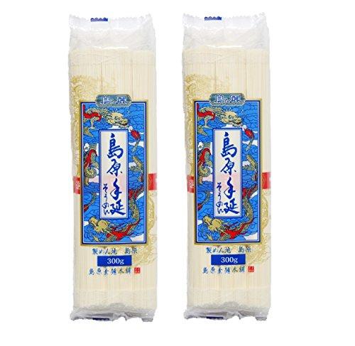 【お試し乾麺】ヒガシフーズ 島原手延素麺「赤帯」300g×2袋