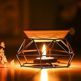 Cleme Difusor Aroma Manualidades Decoración para el hogar Regalos Hierro para Interiores Vela Negra Yoga SPA Aromaterapia Quemador Aceite