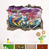 APXN IOSP Stickers muraux 3D pokemon de bande dessinée aller stickers muraux pour chambres d'enfants wall art décor pikachu fenêtre stickers bricolage pvc affiches amovibles garçon cadeau