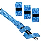 SAPLIZE Golf Grip Wrapping Tapes, 3-Pack Tacky PU Overgrip Tapes, New Regripping Solution for Golf Club Grips, Blue Color