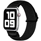 JUVEL Kompatibel mit Apple Watch Armband 38mm 40mm 42mm 44mm, Weiche Nylon Gewebe Sport Schlaufe...