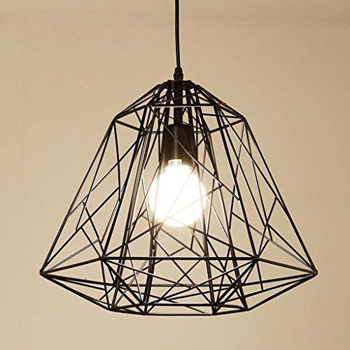 Américain Simple Personnalité Bird Cage Lustre Noir Fer Retro Escalier Living Room Porche Restaurant Lampes Do Not Fade Non Diaoqi