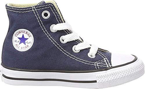 Converse Chuck Taylor All Star Core Hi - Botines de lona infantiles, color azul, talla 22