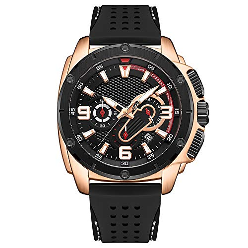 Voigoo Herren-Sport-Uhr-wasserdichte Chronograph Quarz-Armee Militäruhren Rose Gold Uhr Male Relogio Masculino